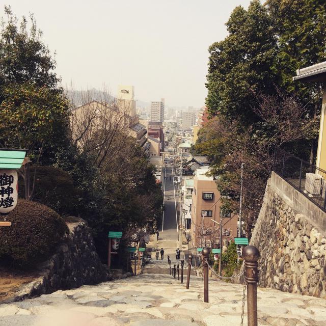 愛媛県伊佐爾波神社の景色