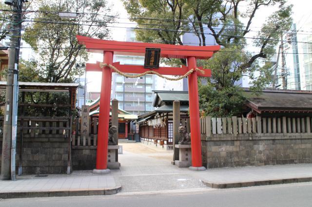 大阪府堀川戎神社の鳥居