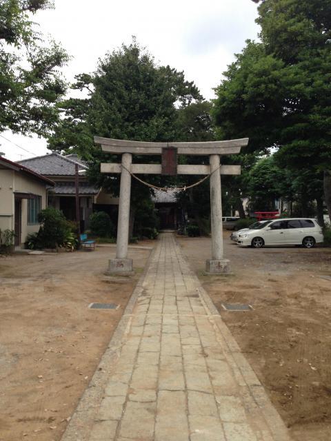 千葉県胡録神社の鳥居