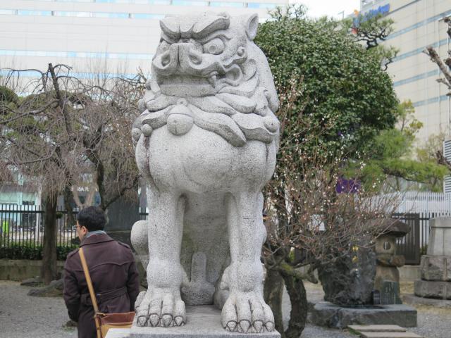 警固神社(福岡県天神駅) - 狛犬の写真
