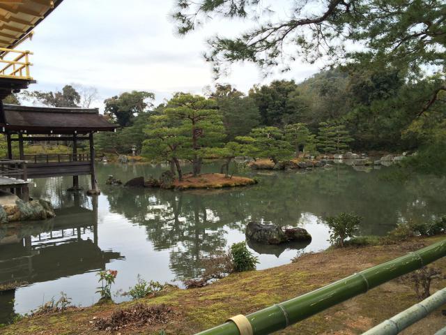 鹿苑寺(金閣寺)の庭園