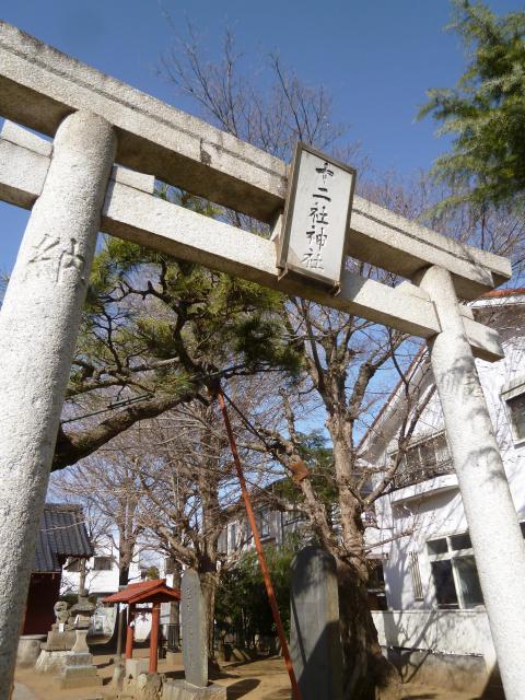 千葉県十二社神社の鳥居