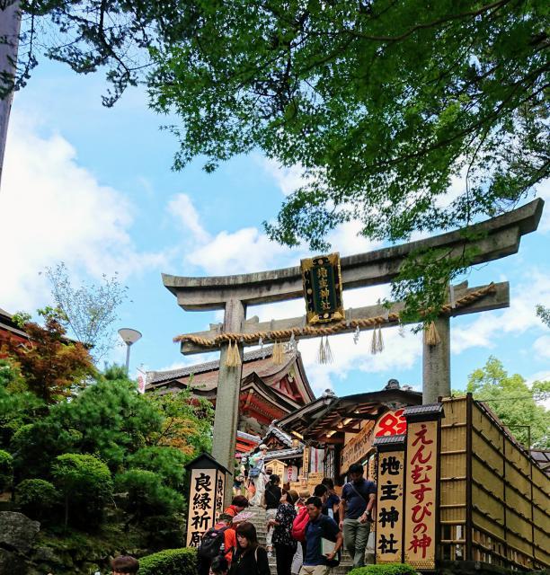 京都府地主神社の鳥居