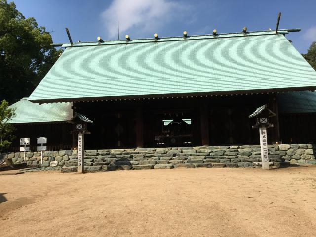 愛媛県東雲神社の本殿