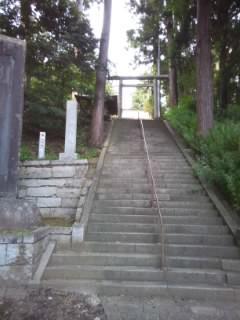 茨城県稲田神社の鳥居