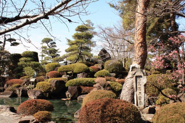 甲斐善光寺の庭園