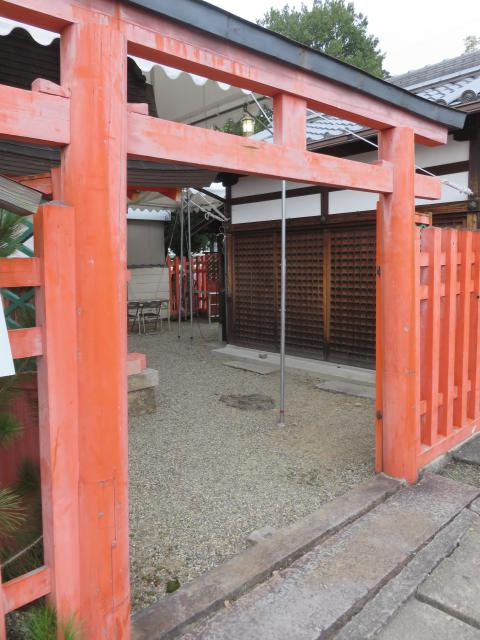 奈良県采女神社の鳥居