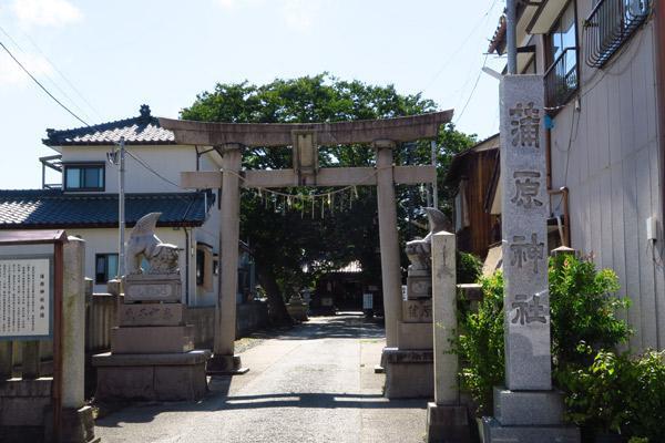 新潟県蒲原神社の鳥居