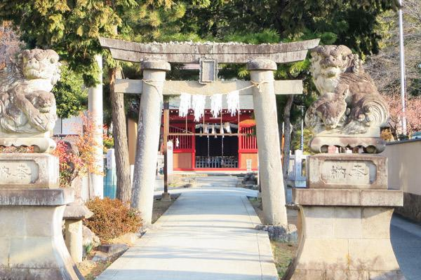 山梨県千塚八幡神社の鳥居