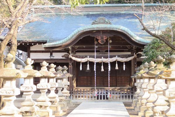 山梨県千塚八幡神社の本殿