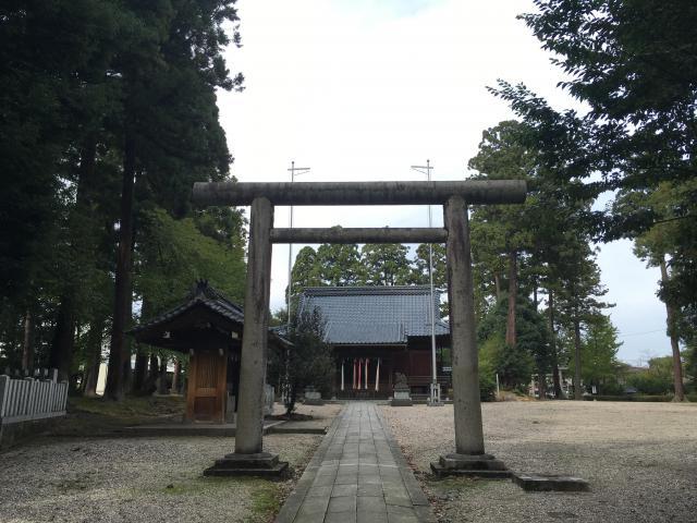 福井県神明社の鳥居