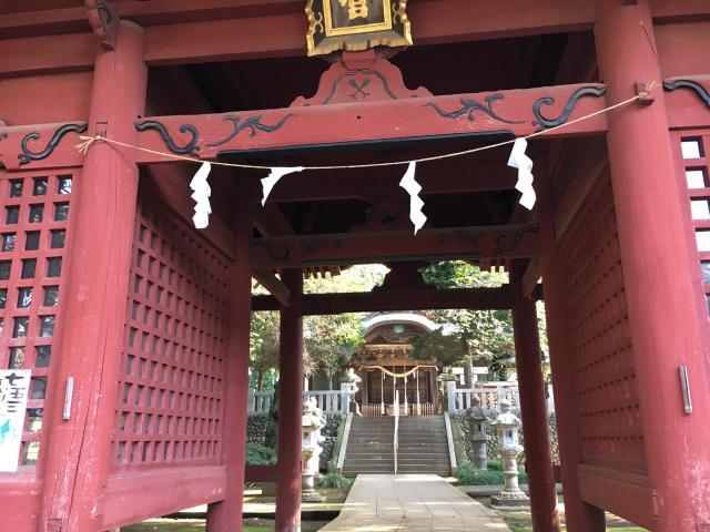 東京都八幡社の山門