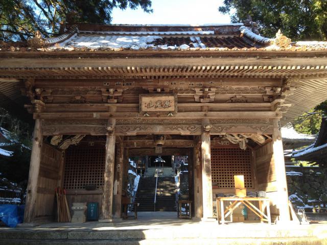 愛媛県明石寺の山門