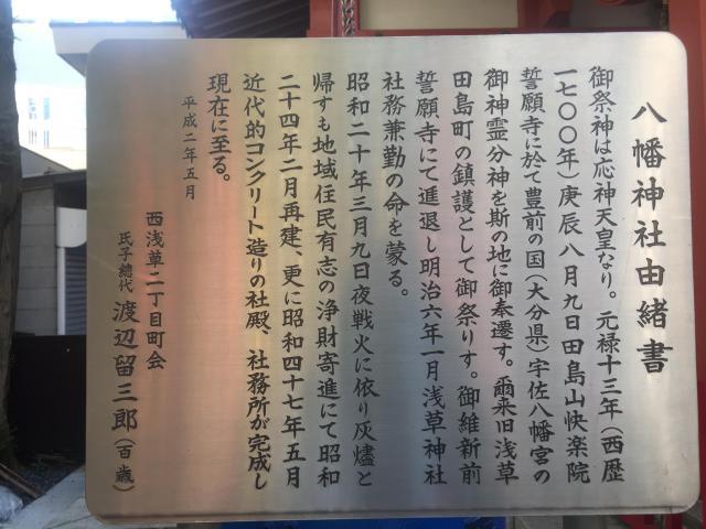 東京都八幡神社の歴史