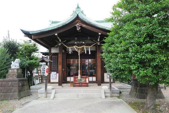 東京都小日向神社の本殿