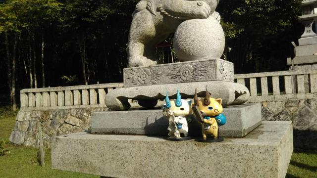 広島県宮崎神社の狛犬