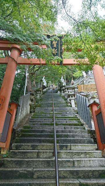 滋賀県阿賀神社の鳥居