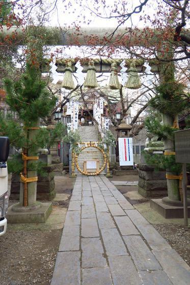 東京都元三島神社の鳥居