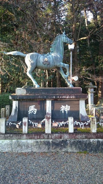 滋賀県押立神社の狛犬