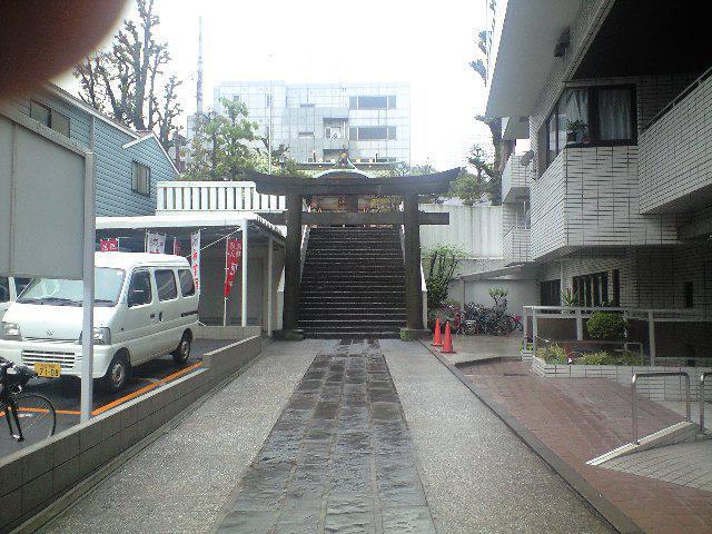 東京都高輪神社の鳥居