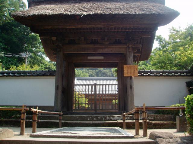 神奈川県長壽寺の山門