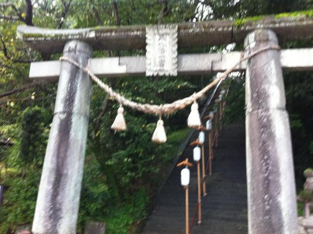 千栗八幡宮の鳥居