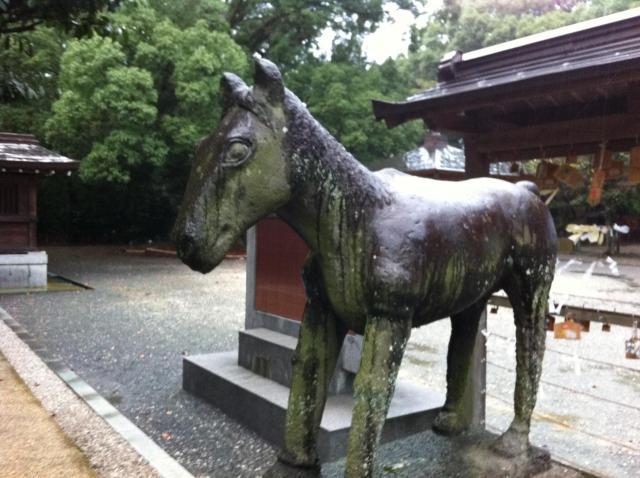 千栗八幡宮の狛犬