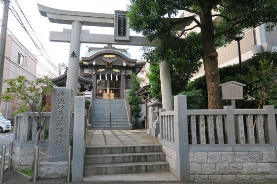 神楽坂若宮八幡神社の鳥居