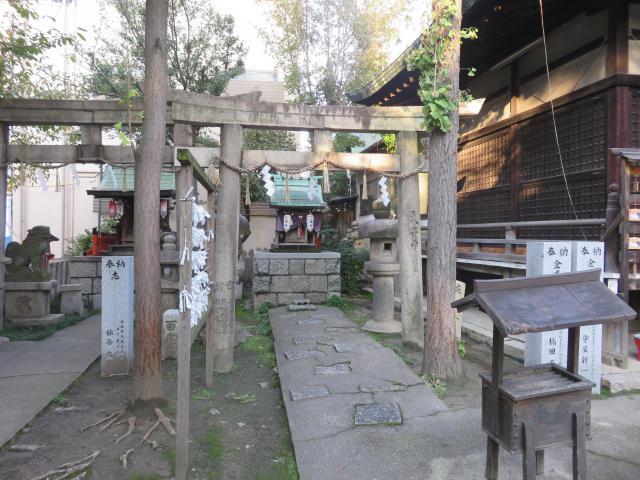 大阪府河堀稲生神社の鳥居