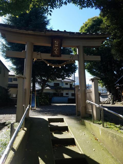 東京都熊野神社の鳥居