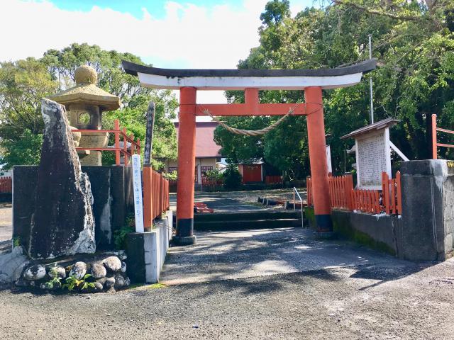 鹿児島県熊野神社の鳥居