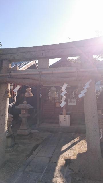 大阪府小山産土神社の鳥居