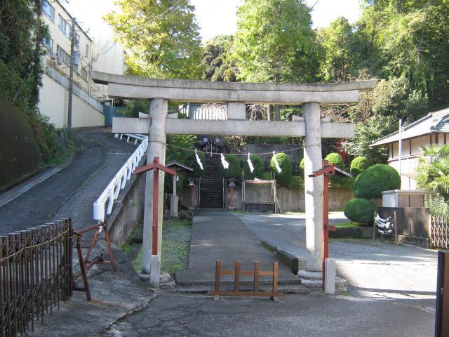 神奈川県八幡社の鳥居