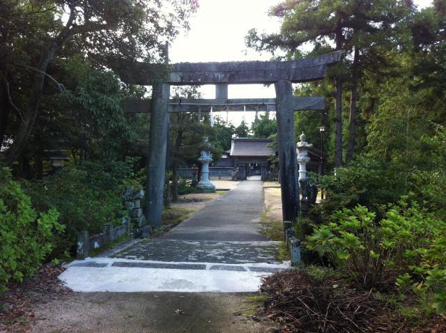 鳥取県大神山神社本宮の鳥居