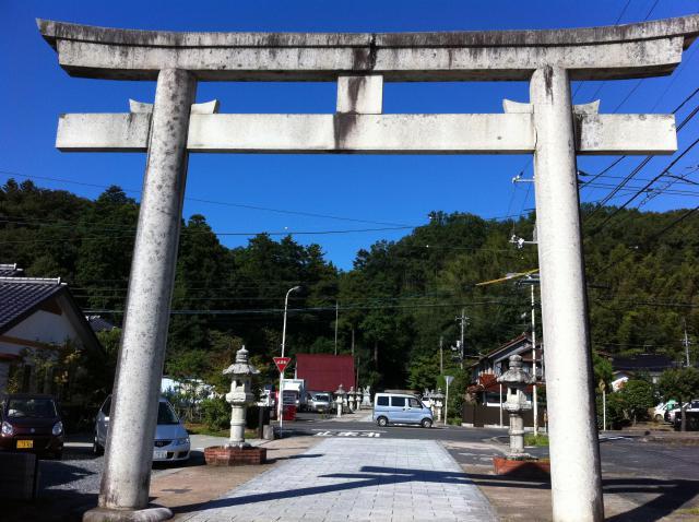 鳥取県宇倍神社の鳥居