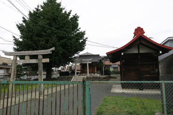 埼玉県北秋津八雲神社(日月神社境外社)の鳥居