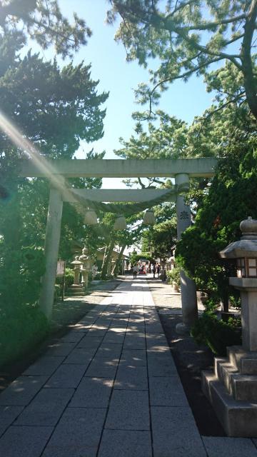 神奈川県森戸大明神(森戸神社)の鳥居