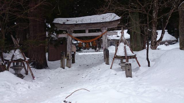 岐阜県白川八幡神社の鳥居