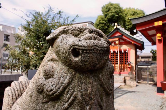 大阪府神津神社の狛犬