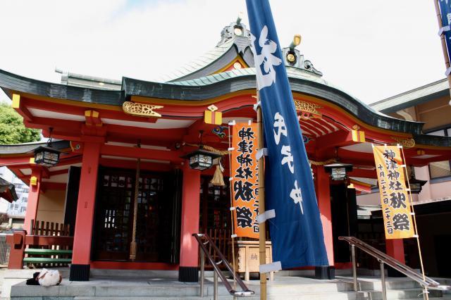 大阪府神津神社の本殿