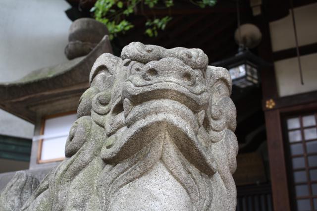 大阪府福島天満宮の狛犬