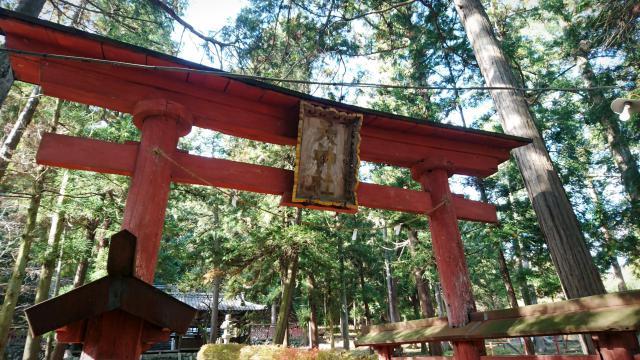 山梨県天神社の鳥居