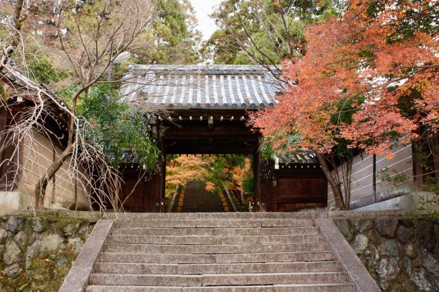 京都府法輪寺の山門