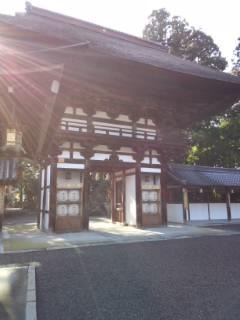 滋賀県沙沙貴神社(佐佐木大明神)の山門