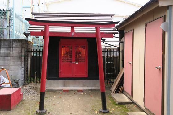 東京都御林稲荷神社(駒込天祖神社境外末社)の鳥居