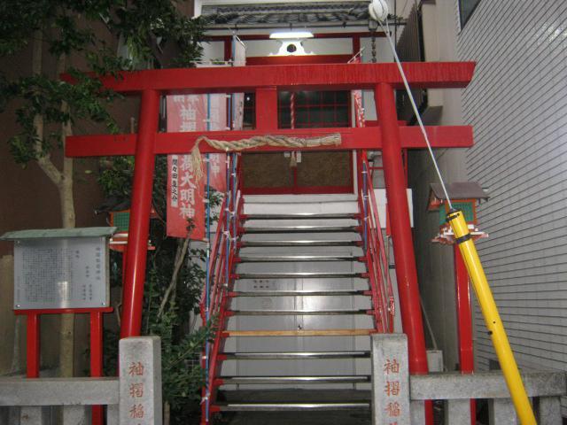 東京都袖摺稲荷神社の鳥居