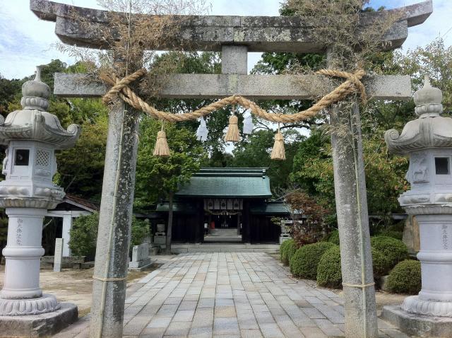 山口県玉祖神社の鳥居