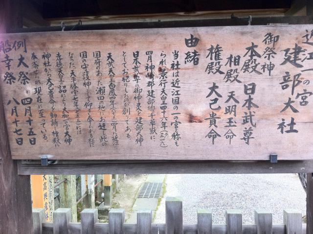 建部神社の歴史