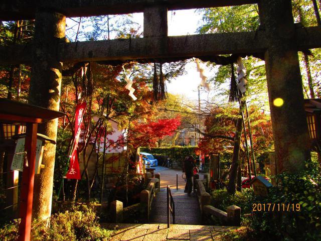京都府熊野若王子神社の鳥居