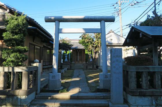 東京都稲荷神社の鳥居